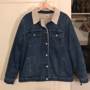 MADEWELL Oversized Denim Jacket w/ Sherpa, XL